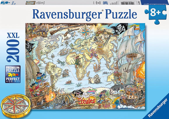 200pc Jigsaw Puzzle Ravensburger Pirates Secret Map