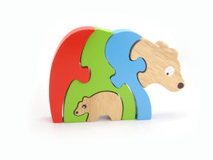 5pc Puzzle Jigsaw Bear And Baby