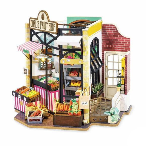 3D Wooden DIY Miniature House Carl's Fruit Shop