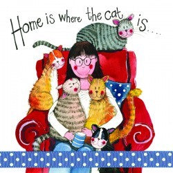 Greeting Card Cat Lover Home Is Alex Clark