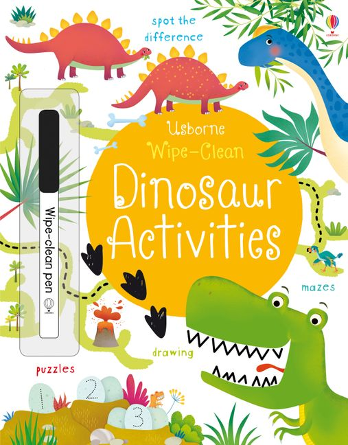Dinosaur Activities Wipe Clean Usborne Soft Cover Activity Book