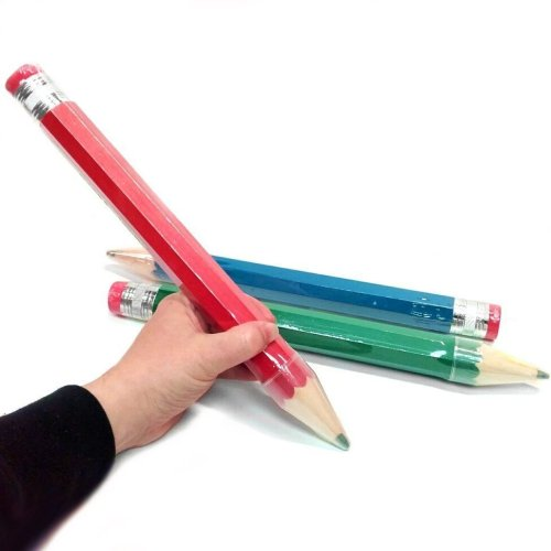 Pencil Giant Red Blue Yellow