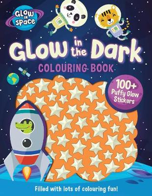 Space Glow in the Dark 100+ Puffy Glow Sticker & Colouring Activity Softcover Book