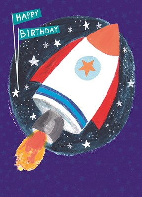 Greeting Card Hoopla Happy Birthday Rocket