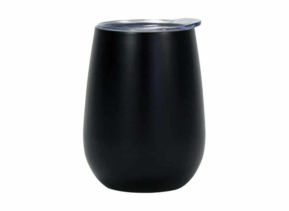 Wine Tumbler Double Walled Stainless Steel BLACK 330ml