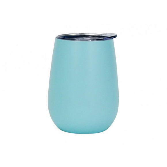 Wine Tumbler Double Walled Stainless Steel BLUE 330ml
