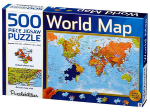 500pc Jigsaw Puzzle Puzzlebilities World Map