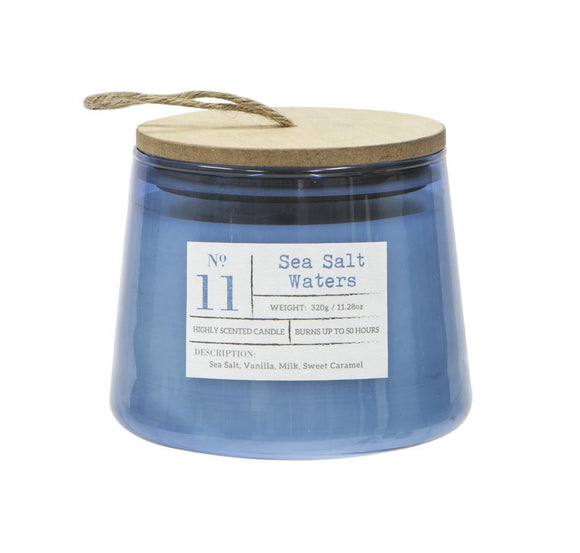 Scented Candle In Jar Sea Salt Waters