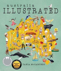 Australia Illustrated by Tania McCartney Hardcover Book
