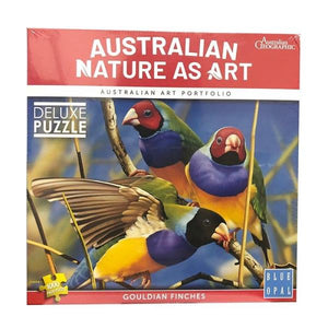 1000pc Jigsaw Puzzle Blue Opal Australian Nature Gouldian Finches