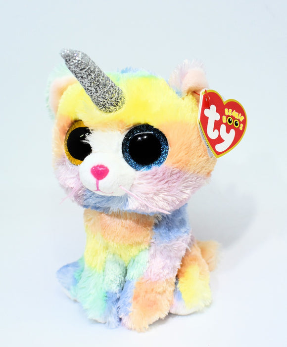 Beanie Boo Heather Cat With Horn Caticorn