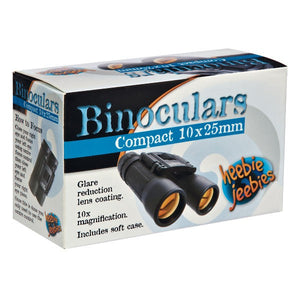 Binoculars with Soft Case by Heebie Jeebies 10x Magnification 10x25mm