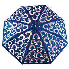 Umbrella Colour Changing Rainbows Dark Blue Floss and Rock