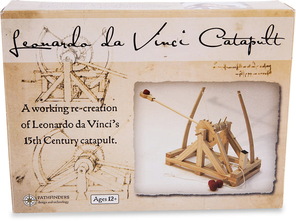 Leonardo da Vinci Catapult Wooden 42x42cm Construction Science Kit