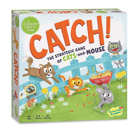 Catch! The Game of Cat & Mouse Childrens Co-operative Strategy Board Game