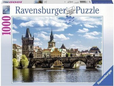 1000pc Jigsaw Puzzle Ravensburger Charles Bridge From Water