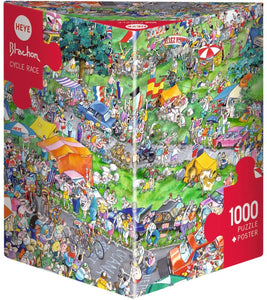 1000pc Jigsaw Puzzle Heye Triangular Cycle Race