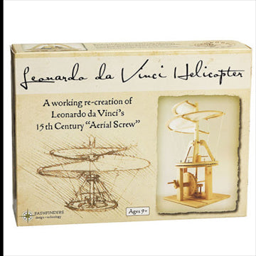 Leonardo da Vinci Helicopter Wooden 38x23cm Construction Science Kit