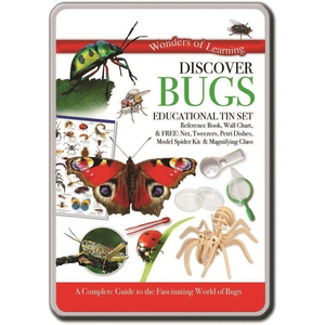 Wonders of Learning Discover Bugs Educational Tin Set Science Kit