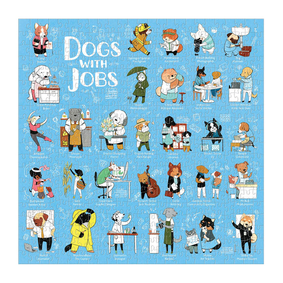 500pc Jigsaw Puzzle Dogs with jobs Galison