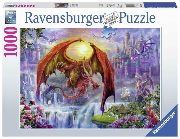 1000pc Jigsaw Puzzle Ravensburger Dragon Kingdom