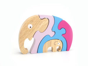 5pc Puzzle Jigsaw Elephant And Baby