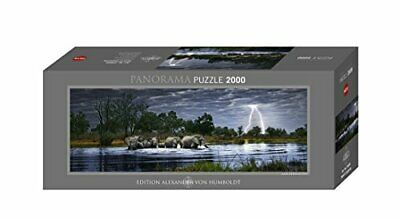 2000pc Jigsaw Puzzle Heye Panorama Herd Elephants