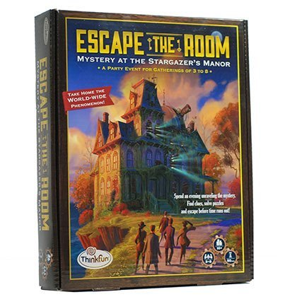 Escape The Room: Mystery At The Stargazer Manor Co-Operative Memory Board Game
