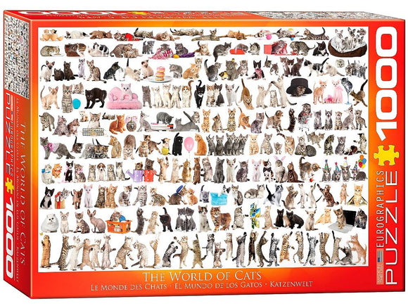 1000pc Jigsaw Puzzle Eurographics World of Cats