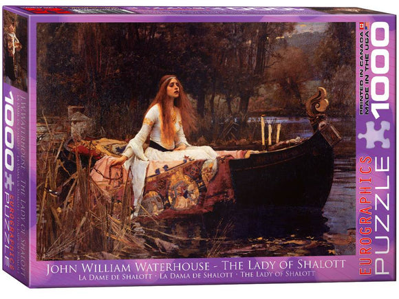 1000pc Jigsaw Puzzle Eurographics Lady of Shalott Puzzle