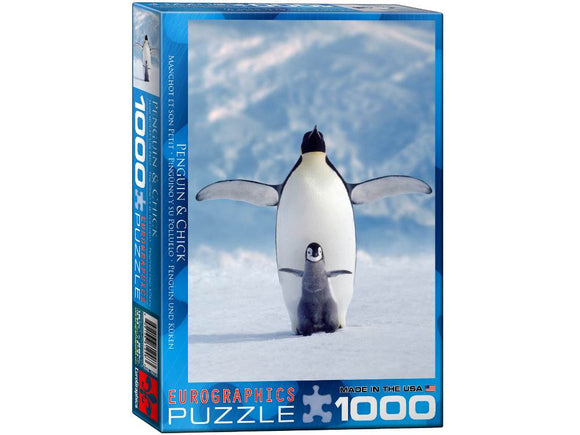 1000pc Jigsaw Puzzle Eurographics Penguin & Chick