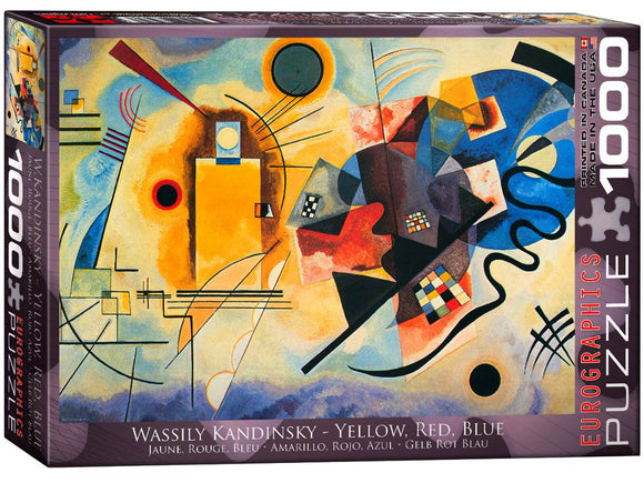 1000pc Jigsaw Puzzle Eurographics Kandinsky Yellow Red And Blue