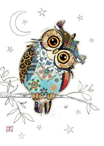 Greeting Card Bug Art Kooks Owen Owl