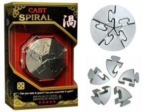 Hanayama Cast Spiral Level 5 Brainteaser