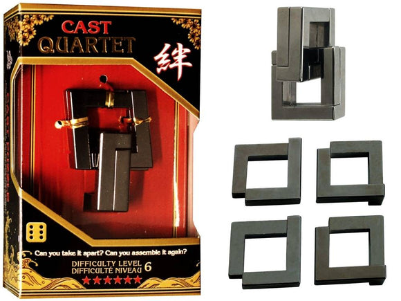 Hanayama Cast Quartet Level 6 Brainteaser