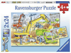 2x24pc Jigsaw Puzzle Ravensburger Hard At Work