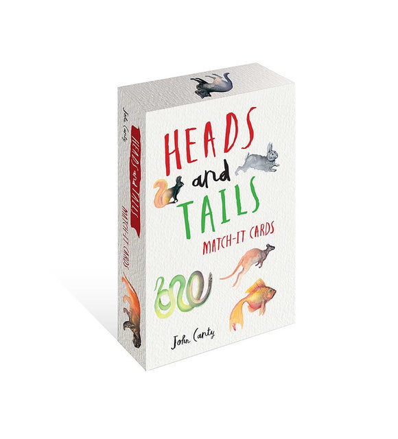 Heads and Tails Match-It Cards by John Carty Children's Memory Match Card Game