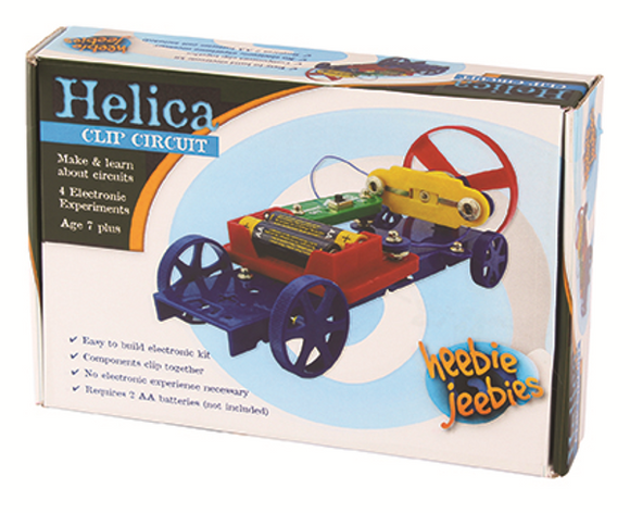 Helica Clip Circut Make Your Own 4 Experiments by Heebie Jeebies Construction Science Kit