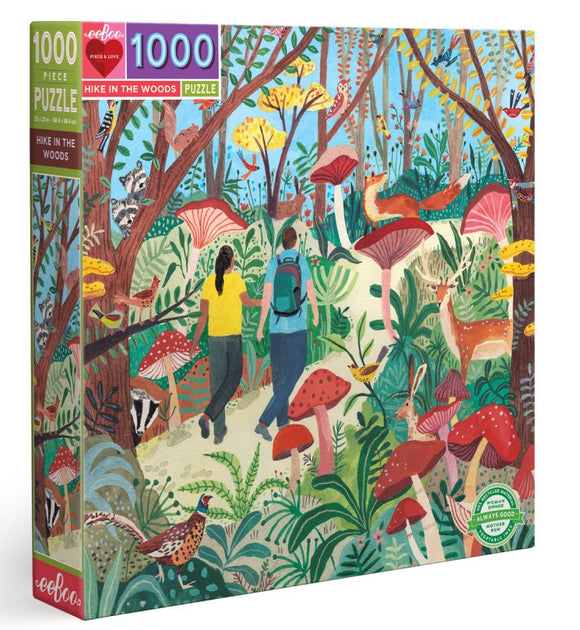 1000pc Jigsaw Puzzle Eeboo Hike in the Woods