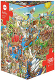 1500pc Jigsaw Puzzle Heye Triangular History River