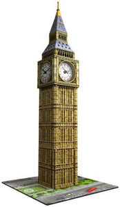 216pc 3D Jigsaw Puzzle Ravensburger Big Ben With Real Clock