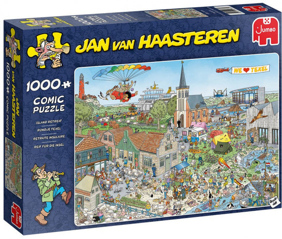 1000pc Jigsaw Puzzle Jumbo JVH Jan Van Haasteren Island Retreat