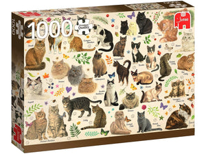 1000pc Jigsaw Puzzle Jumbo Cats Poster