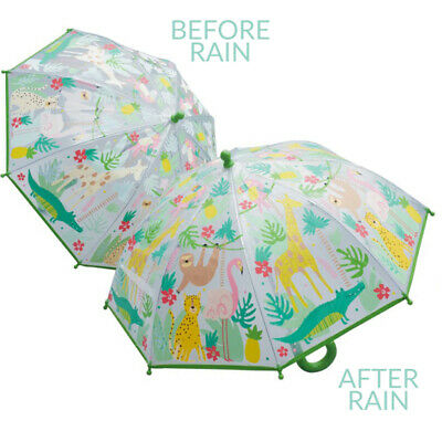 Umbrella Kids Colour Changing Jungle Clear Floss and Rock