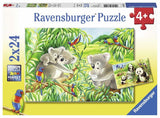 2x24pc Jigsaw Puzzle Ravensburger Sweet Koalas And Pandas