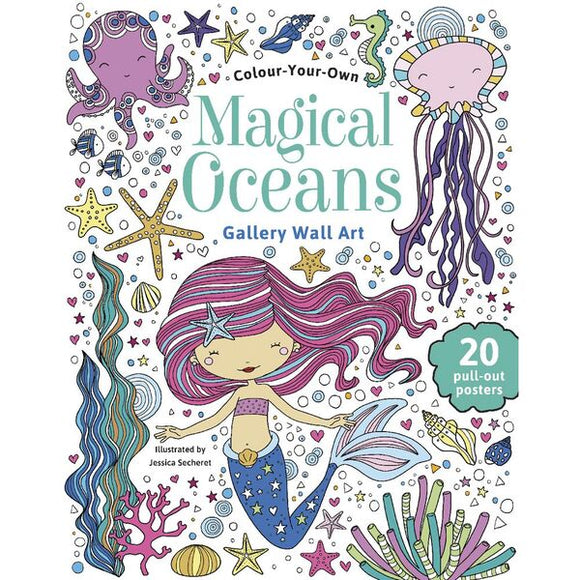 Magical Oceans Colour Your Own Gallery Wall Art by Jessica Secheret Softcover Book