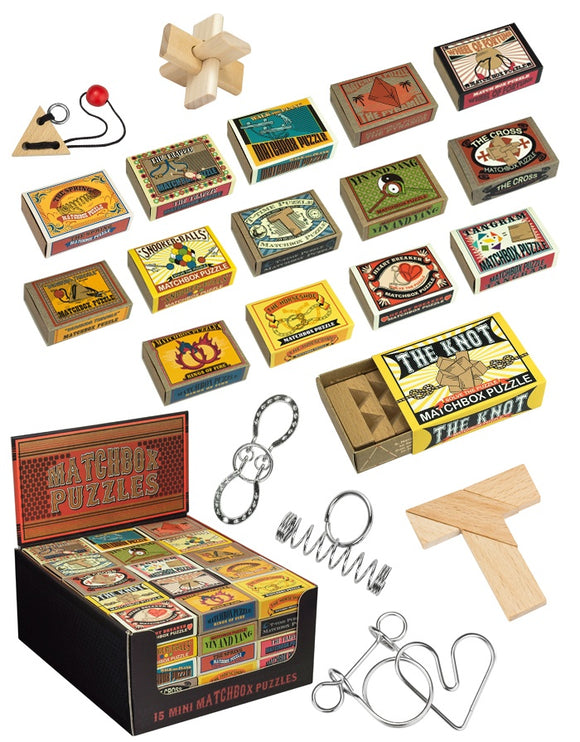 Mini Matchbox Assorted Puzzle Brainteaser Game