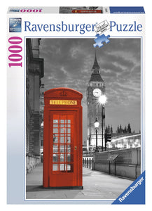 1000pc Jigsaw Puzzle Ravensburger Big Ben Red Phone Box