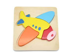 4pc Puzzle Small Chunky Airplane