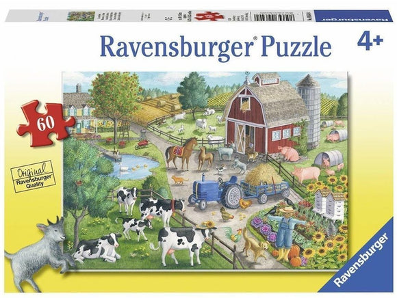 60pc Jigsaw Puzzle Ravensburger Home On The Range